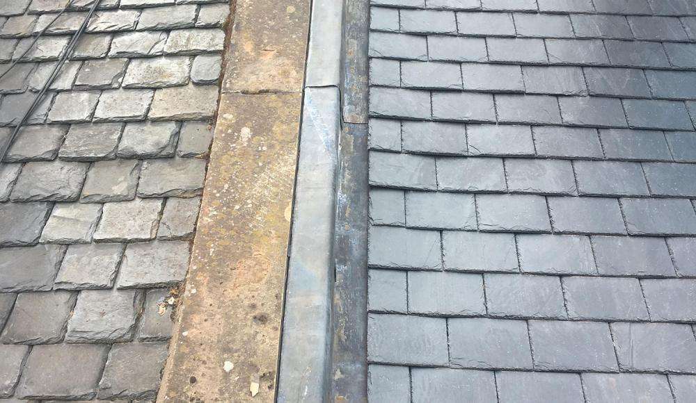 Traditional lead work to skewes