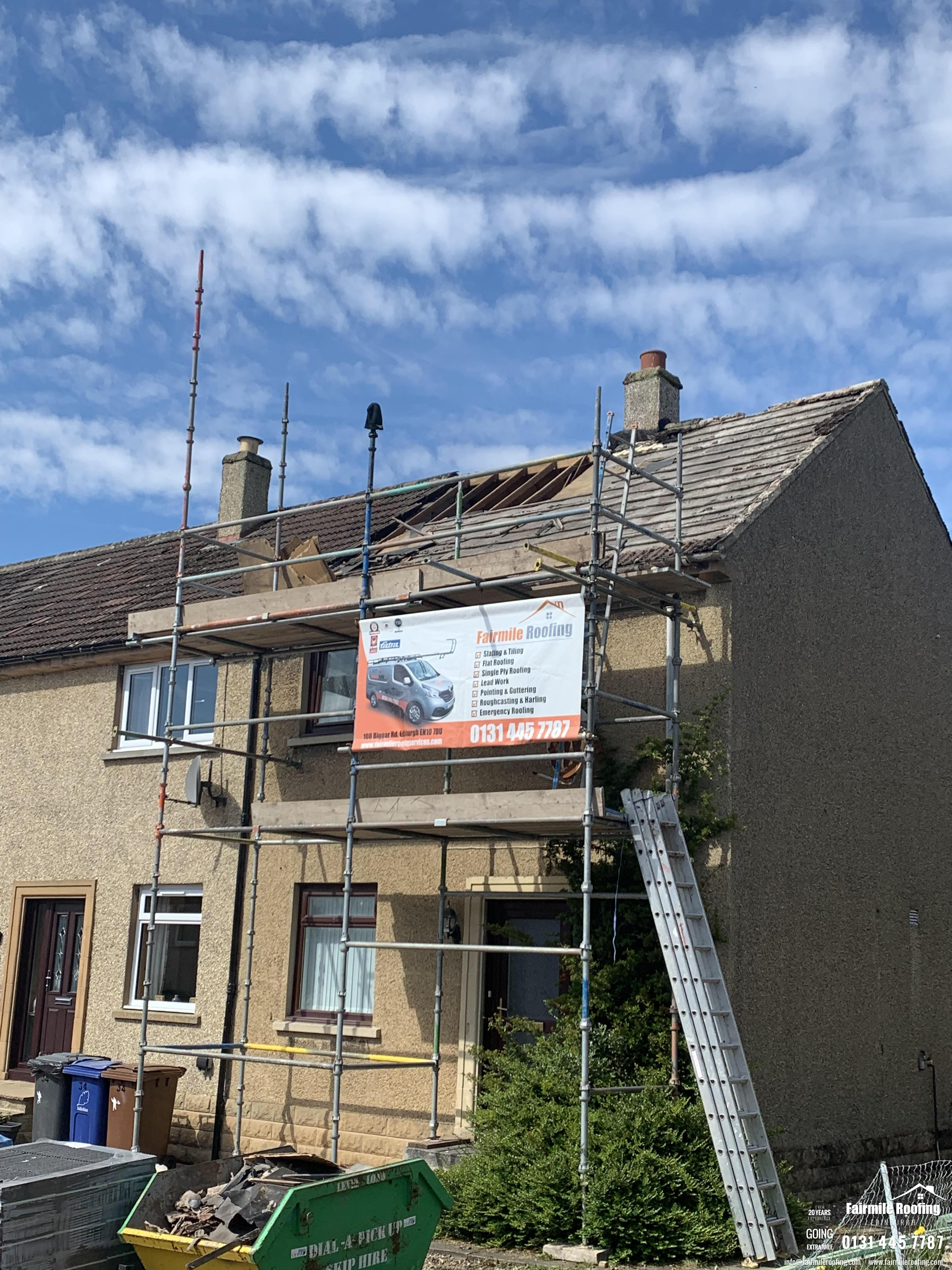 Concrete tiled roof replacement - Penicuik EH26