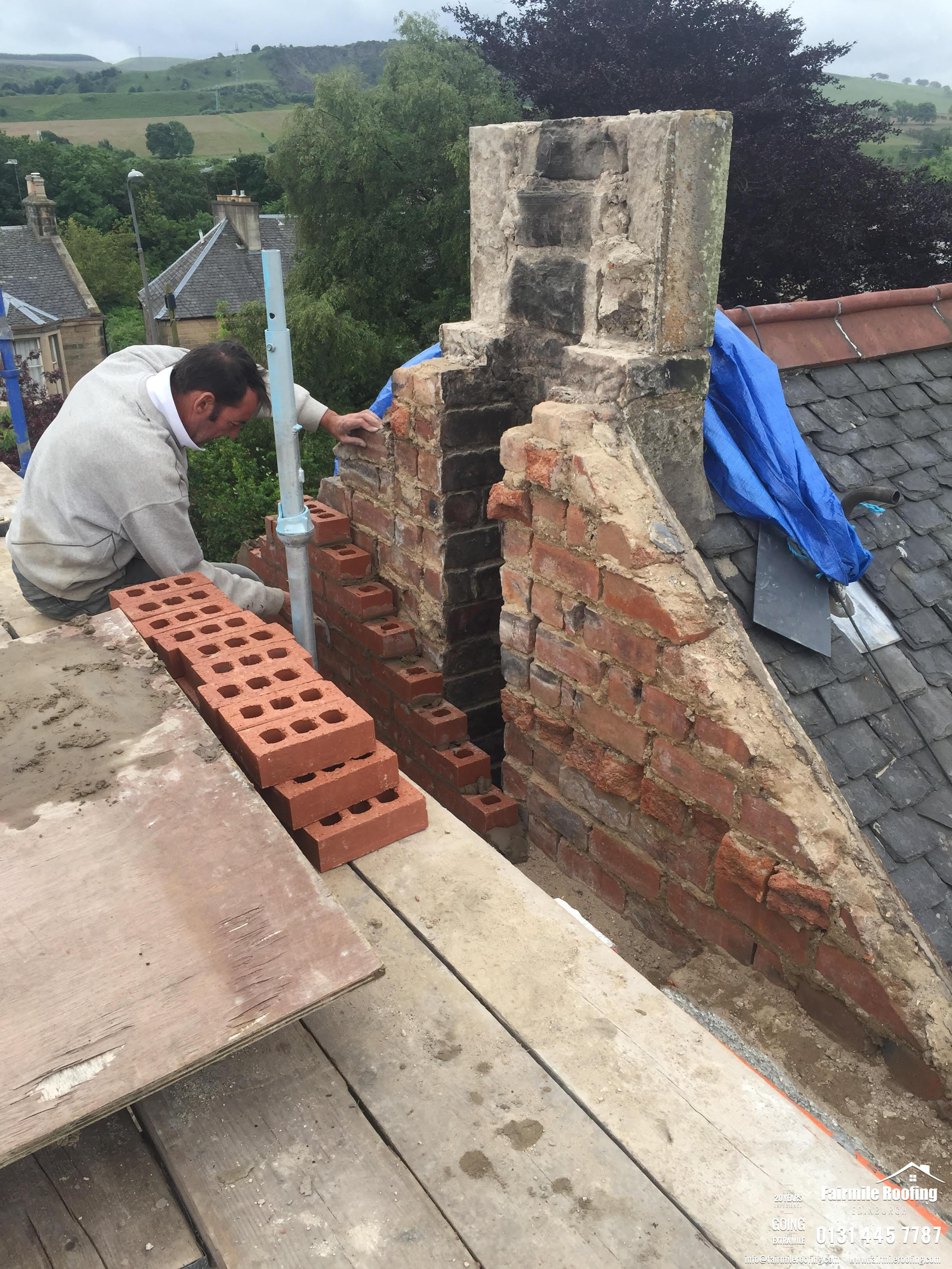 Chimney and gable end works - Junioper Green EH14