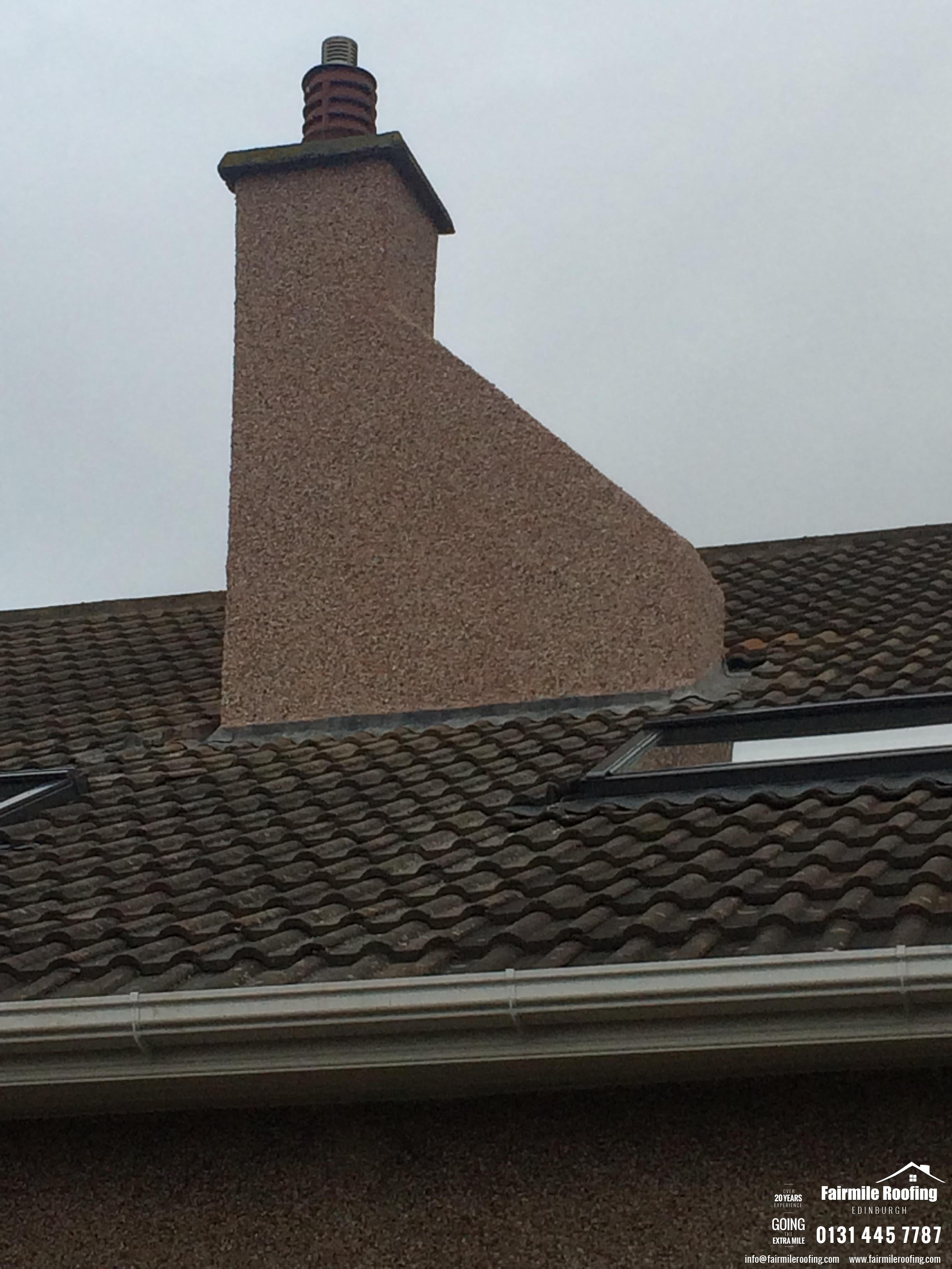 Chimney render works - Bonaly EH14